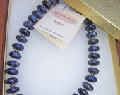 SALE Sodalite and Silver Necklace  (Item N-7)
