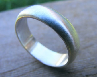 Sterling Silver Ring Band, Mens Wedding Band, Wedding Ring, Simple Ring with Satin Finish or Shiny Finish
