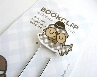 Illustrated Bookmark : Owl with Bowler Hat
