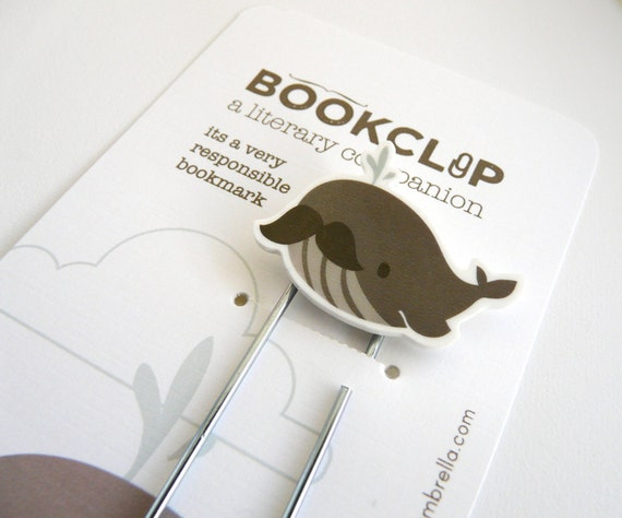 Illustrated Bookmark : Whale Bookclip