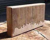 New York City Skyline. - 4x8 - Walnut