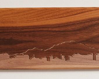 Boulder Skyline. - 6x12 - Walnut