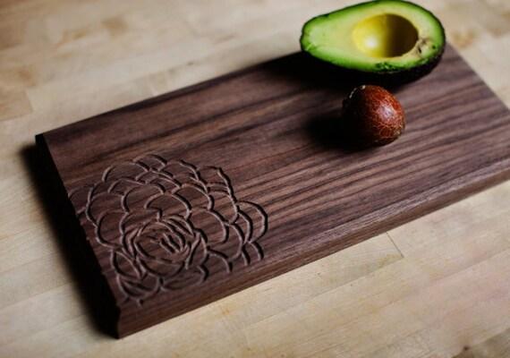 Cutting Board - Echeveria S. - 6x12 - Walnut