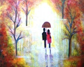 AUTUMN ROMANCE- FINE ART PRINT-8 x 10 matte Archival -Very romantic-MUST SEE