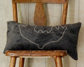 ON SALE vespertine antlers lavender and buckwheat hull pillow
