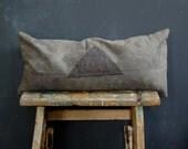 SALE tri cushion hand dyed buckwheat hulls lavender