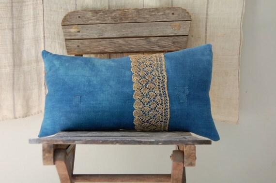 ON SALE july pillow indigo