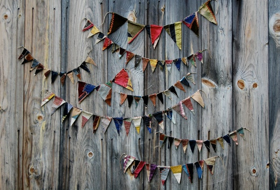 antique crazy quilt bunting