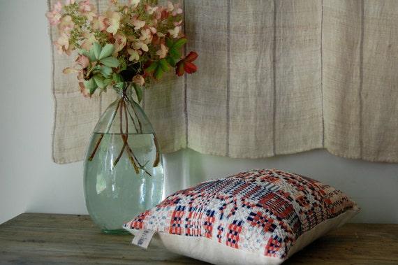 SALE 1800s homespun coverlet pillow