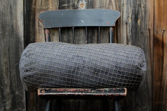 fisherman's vespertine hand dyed black sueded hemp large bolster
