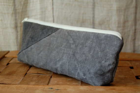 SALE hand dyed zip purse
