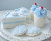 New Light Blue Tea Party Dessert Set