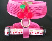 Sweet Cherry Mesh Dog Harness size MEDIUM ships TODAY