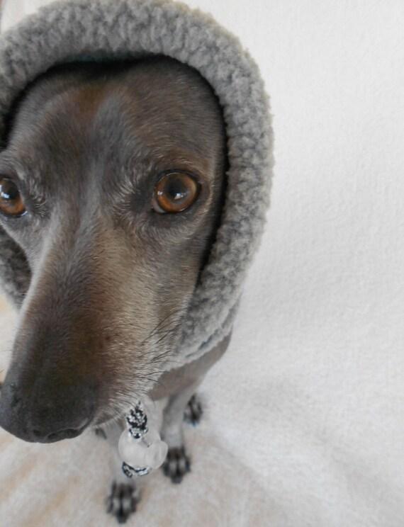 Warm Performance Fleece Snood Ear Warmer for Dogs-small