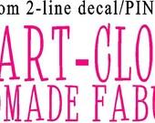 Custom order for Artcloud