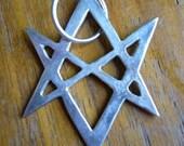 Silver Crowley pendant