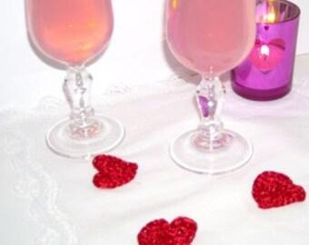 Coeur ardent - little crocheted hearts e-pattern - patron de petits coeurs au crochet