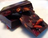 Goji and Cranberry dark chocolate vegan bar