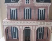 Sheila Cape May Gothic Pink Victorian Wooden House Rare Collectible