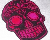 Day of the Dead, Sugar Skull EMBROIDERED patch '15'