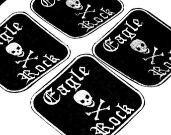 derby name  skull patch