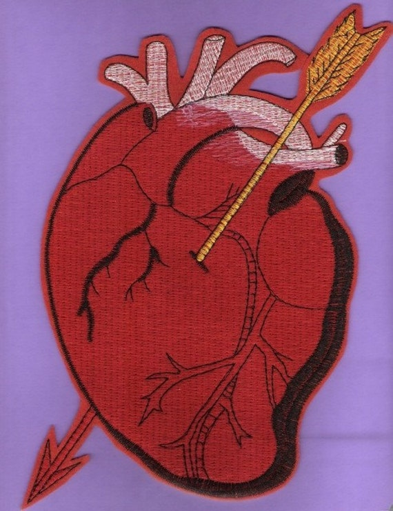 Embroidered Big Heart Iron On patch