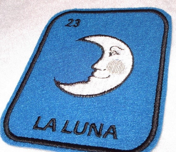 La Luna Loteria Iron on Patch Moon