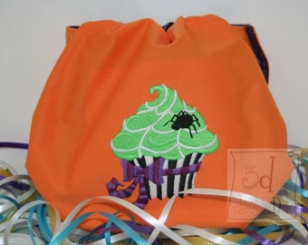Embroidered Cupcake Spider Waterproof Cloth Diaper Cover