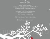Birds on a limb Wedding Invitation template