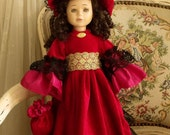 "Vintage Victorian lady doll 16"" collectible"