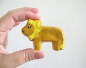 Lion Drawer Knob -  ceramic pull for dresser drawers kids rooms