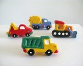 Truck Knob Set - Construction Dresser Drawer Knobs - kids room - boys