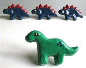 Green Brontosaurus - Dresser Drawer Knob - pull for furniture