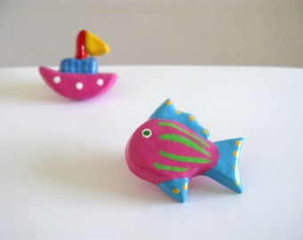 Pink Fish - Ceramic Drawer Knob