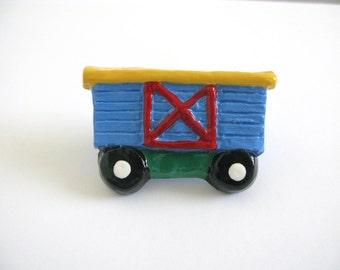 Blue Boxcar - Ceramic Drawer Knob