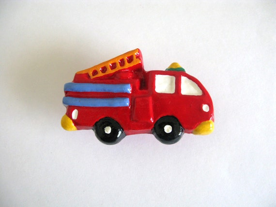 Camion de pompier bouton bouton de tiroir pour le moteur - Bouton de tiroir original ...