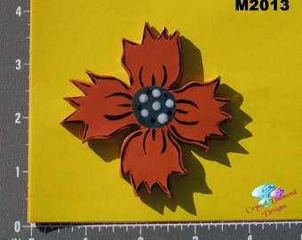 FLOWER - Kiln Fired Handmade Ceramic Mosaic Tiles M2013