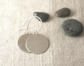 Simple Round Disc Earrings - Small