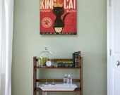 King Cat Coffee Company illustration  graphic artwork on gallery wrapped canvas by stephen fowler