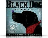 Black Dog Wine Company original graphic art on gallery wrapped canvas by stephen fowler