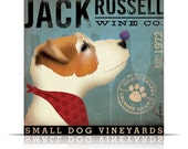 Jack Russell Wine Company original graphic art on gallery wrapped canvas by Stephen Fowler