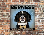 Bernese Mountain Dog Baking Company original graphic illustration on gallery wrapped canvas Stephen Fowler