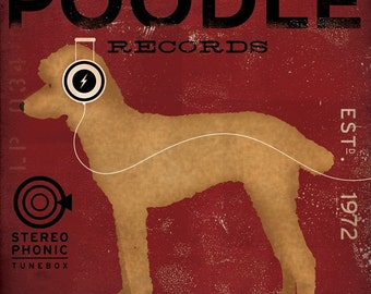 Standard Poodle Records album style graphic artwork on gallery wrapped canvas by Stephen Fowler