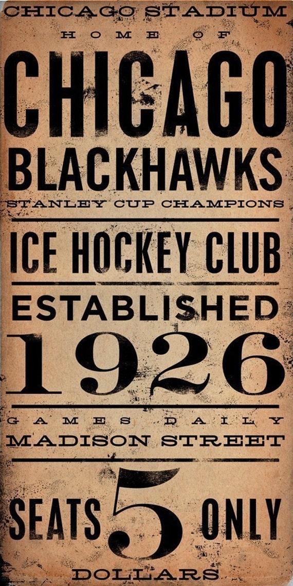 CHICAGO BLACKHAWKS hockey club graphic art artwork archival Giclee print by Stephen Fowler