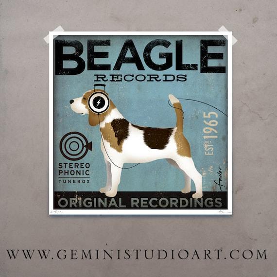 Beagle Records album style Customized 14 x 14