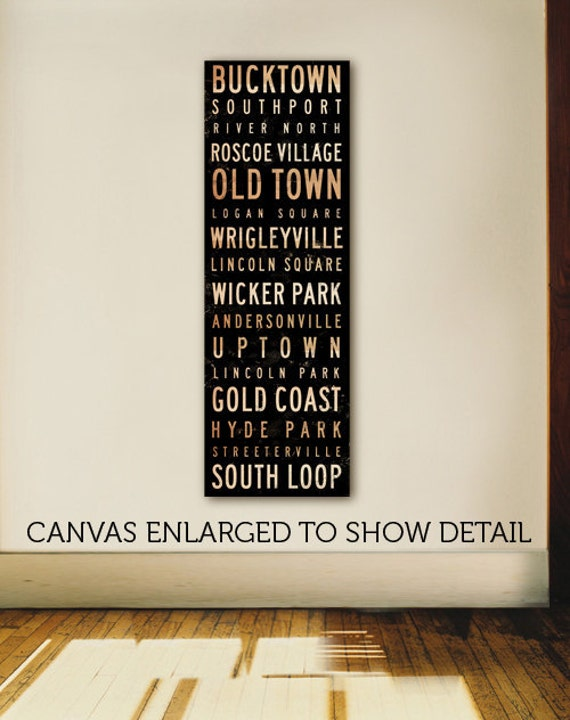Custom Typography graphic word art on narrow gallery wrapped canvas by Stephen Fowler gift