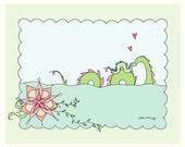 Print-8x10-Sea Monster Mumzilla