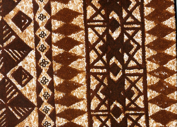 CLEARANCE: Vintage Hawaiin Abstract Fabric - Cotton, 1 Yard - 2 Pieces
