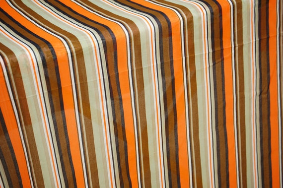 Vintage 60s Striped Sheer Fabric - 1 and 2/3 Yards - Extra Wide