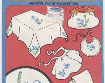 EMBROIDERY TRANSFERS SWANS